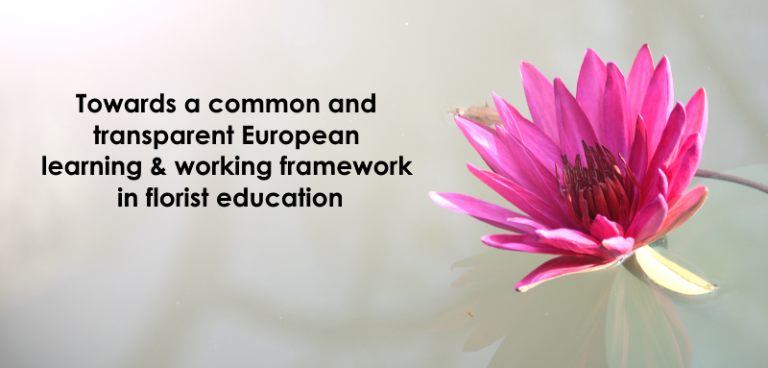Invitation: Developing a common learning & working framework for florists in Europe