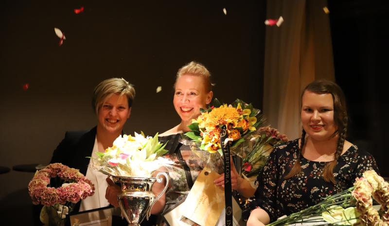 Champion of the Helsinki Open 2018 International Floristry Competition: Saija Sitolahti!