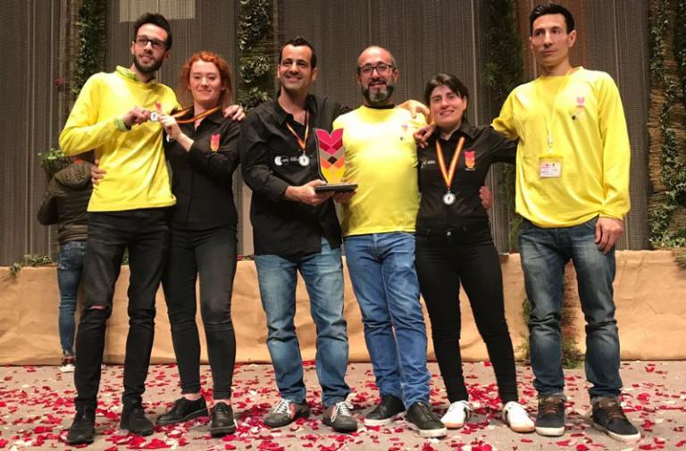 Carles J. Fontanillas wins AEFI's Spanish Floral Art Cup 2018!