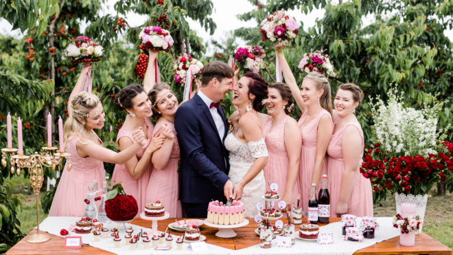 Wedding inspiration for professional florists: 'Cherrylicious'