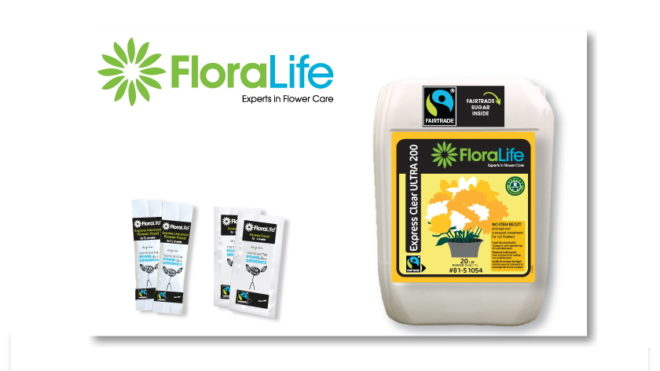 Now also Fairtrade-Certified:  FloraLife® Express Clear ULTRA 200 and FloraLife® Express Universal 300 available in new formats