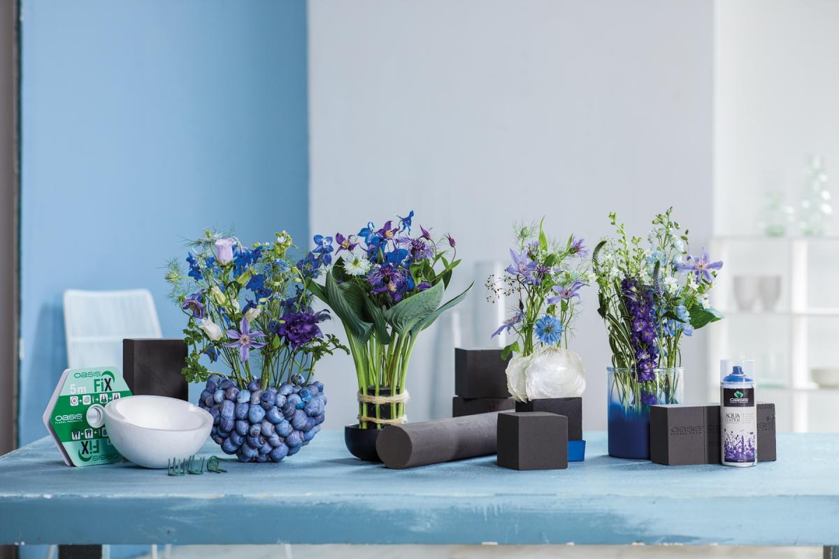 Inspiration for florists: adding value to designs with OASIS® AQUA Colour Spray